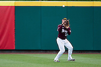 Tate Matheny #26 of the Missouri State Bears catches a ball in center field during a game against the Wichita State Shockers at Hammons Field on May 5, 2013 in Springfield, Missouri. (David Welker/Four Seam Images)