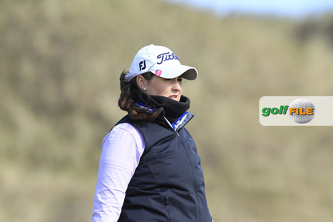 Olivia Mehaffey (Royal Co. Down) on the 16th during the final round of the Irish woman's Open stroke play championship, The Island Golf Club, Donate, Co Dublin. 10/04/2016.<br /> Picture: Golffile | Fran Caffrey<br /> <br /> <br /> All photo usage must carry mandatory copyright credit (&copy; Golffile | Fran Caffrey)