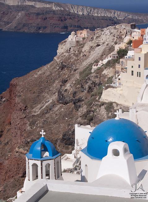 Church and cliffs in Oia, Santorini