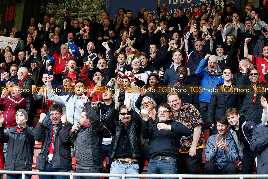 O's fans celebrates after 2nd goal by Tristan Abrahams during Leyton Orient vs Hartlepool United, Sky Bet EFL League 2 Football at the Matchroom Stadium on 17th April 2017