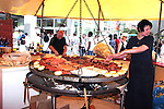10 June 2006: Soccer fans and locals enjoy market day in Frankfurt before the game.  England played Paraguay at Commerzbank Arena in Frankfurt, Germany in match 3, a Group B first round game, of the 2006 FIFA World Cup.
