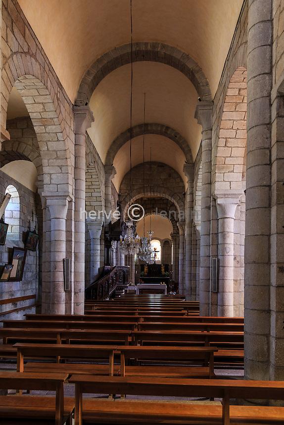 France, Cantal (15), Lanobre, l'église Notre-Dame //France, Cantal, Lanobre, Notre Dame church