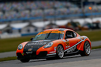 5-8 January, 2017, Daytona Beach, Florida USA<br /> 56, Porsche, Porsche Cayman, ST, Jeff Mosing, Eric Foss<br /> &copy;2017, Jake Galstad<br /> LAT Photo USA