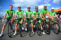 The Oliver's Real Food Racing team. The opening ceremony of the NZ Cycle Classic UCI Oceania Tour at Mitre 10 Mega in Masterton, New Zealand on Tuesday, 16 January 2018. Photo: Dave Lintott / lintottphoto.co.nz