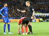 Riyad Mahrez of Leicester City during the Premier League match between Leicester City v Sunderland played at King Power Stadium, Leicester on 4th April 2017.<br /> <br /> <br /> available via IPS Photo Agency/Rex Features  only