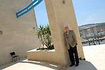 Dr. Sari Nuseibeh at the El-Kuds university, in the West Bank village of Abu-Dis bordering Jerusalem.<br /> July 1st, 2007 (Photo by Ahikam Seri).