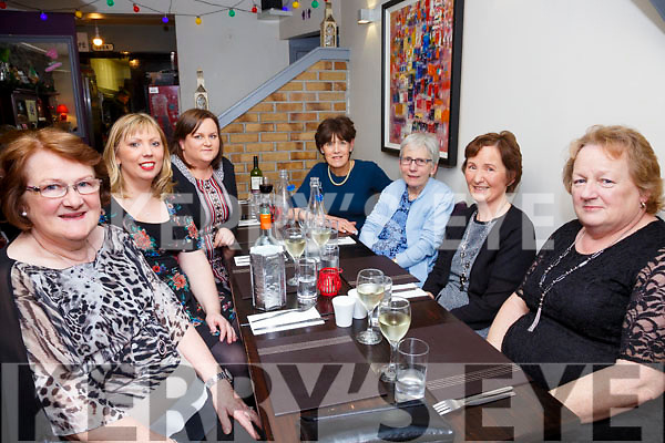 Staff from Fertha View Day Centre, Cahersiveen on a Christmas night out in Camos on Saturday night, pictured l-r; Patricia Griffin, Lucy Helen, Lindsay O'Shea, Kathleen Lyons, Mary Cronin, Mary O'Sullivan & Anne O'Sullivan