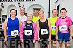 Getting ready to take part in the Valentia Cable Half Marathon on Saturday were l-r; Niamh O'Sullivan, Tommy Commane, Ailish Hughes, Jason Clifford, Carol O'Hanlon, Keith & Ann McCarthy from Tralee & Lixnaw.