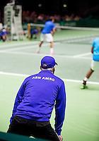 Februari 09, 2015, Netherlands, Rotterdam, Ahoy, ABN AMRO World Tennis Tournament, Aisam-Ul-Hap Qureshi (PAK) / Nedad Zimonjic (SRB)<br /> Photo: Tennisimages/Henk Koster
