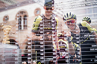 Simon Yates (GBR/Mitchelton-Scott) & Luke Durbridge (AUS/Mitchelton-Scott) signing on<br /> <br /> Stage 10: Ravenna to Modena (147km)<br /> 102nd Giro d'Italia 2019<br /> <br /> ©kramon
