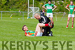 Donnchadh Walsh receiving treatment during their County SFC round 1 game in Killorglin on Sunday