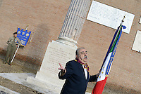 Roma, 8 Settembre 2014<br /> Porta San Paolo.<br /> Commemorazione per i caduti dell'8 settembre 1943 per la difesa di roma dal nazifascismo.<br /> September 8,2014.<br /> Memorial at the Porta San Paolo for the fallen in the defense of Rome from nazi-fascism.