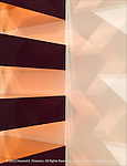 """This is a segment of the Donald Judd """"box tower"""" on display at Boston's Museum of Fine Art. The reflections and shadows from each plane of the sculpture have been emphasized to show the complex interplay of light and shadow."""