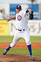 Christopher Archerc(24) of the Daytona Cubs during a game vs. the Charlotte Stone Crabs June 3 2010 at Jackie Robinson Ballpark in Daytona Beach, Florida. Charlotte won the game against Jupiter by the score of 6-3.  Photo By Scott Jontes/Four Seam Images