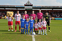 Team photo during Stevenage vs Cambridge United, Sky Bet EFL League 2 Football at the Lamex Stadium on 14th April 2018