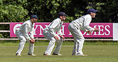 Cricket Scotland - Scotland V Namibia, in this week's 4 day Intercontinental Cup (this is Day 2 - Day 1 was lost to rain) - Scotland slip cordon — l to r - Kyle Ceotzer, Calum MacLeod and Craig Wallace - picture by Donald MacLeod - 07.06.2017 - 07702 319 738 - clanmacleod@btinternet.com - www.donald-macleod.com