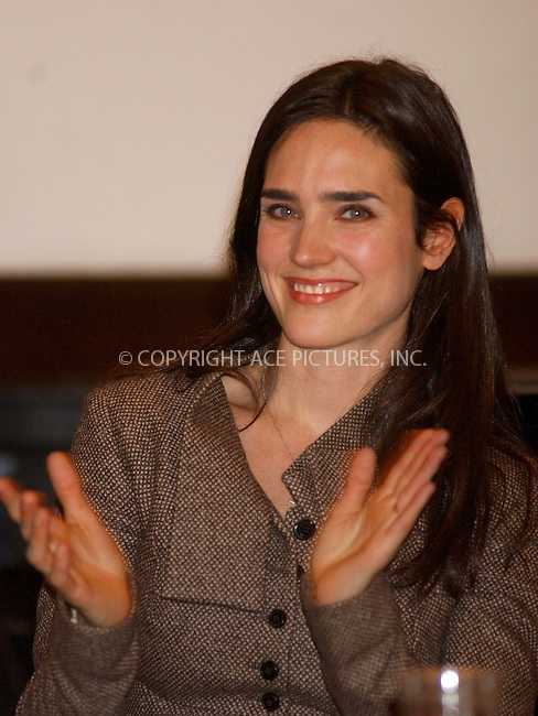 WWW.ACEPIXS.COM . . . . . ....NEW YORK, NOVEMBER 16, 2005......Jennifer Connelly and Amnesty International USA introduce groundbreaking children's book on human rights called 'Mine And Yours: Human Rights for Kids'.......Please byline: KRISTIN CALLAHAN - ACE PICTURES.. . . . . . ..Ace Pictures, Inc:  ..Philip Vaughan (212) 243-8787 or (646) 679 0430..e-mail: info@acepixs.com..web: http://www.acepixs.com