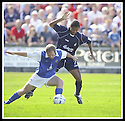 23/08/2003                   Copyright Pic : James Stewart.File Name : stewart-falkirk v qots 07.GARY WOOD HOLDS OFF FALKIRK'S BRENT RAHIM....James Stewart Photo Agency, 19 Carronlea Drive, Falkirk. FK2 8DN      Vat Reg No. 607 6932 25.Office     : +44 (0)1324 570906     .Mobile  : +44 (0)7721 416997.Fax         :  +44 (0)1324 570906.E-mail  :  jim@jspa.co.uk.If you require further information then contact Jim Stewart on any of the numbers above.........