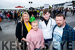 Elaine O'Shea, Hannah O'Carroll, Ben O'Carroll and Jamie O'Carroll all from Caherdaniel, enjoying Listowel Races on Sunday last.