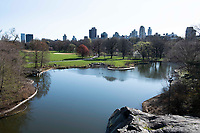 New York City, New York, Coronavirus in New York. Central Park devoid of people.