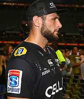 DURBAN, SOUTH AFRICA - APRIL 14: Ruan Botha (captain) of the Cell C Sharks during the Super Rugby match between Cell C Sharks and Vodacom Bulls at Jonsson Kings Park Stadium on April 14, 2018 in Durban, South Africa. Photo: Steve Haag / stevehaagsports.com