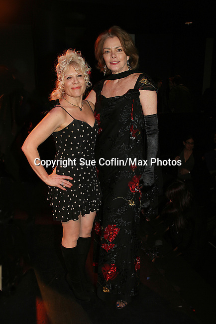 Ilene Kristen performs and poses with Denise (GL) who is co-president of MYCWAM - Celebrating Women Artists Over 40 - The New York Coalition of Professional Women in the Arts & Media, INC. in association with American Federation of Television & Radio Artists and the Screen Actors Guild presents VintAGE on March 1, 2010 at Peter Norton Symphony Space, New York City, New York. (Photo by Sue Coflin/Max Photos)