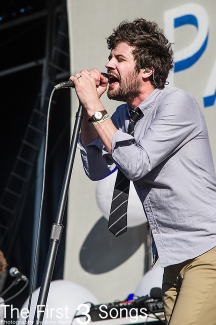 Michael Angelakos of Passion Pit performs during Day 3 of the 2013 Firefly Music Festival in Dover, Delaware.