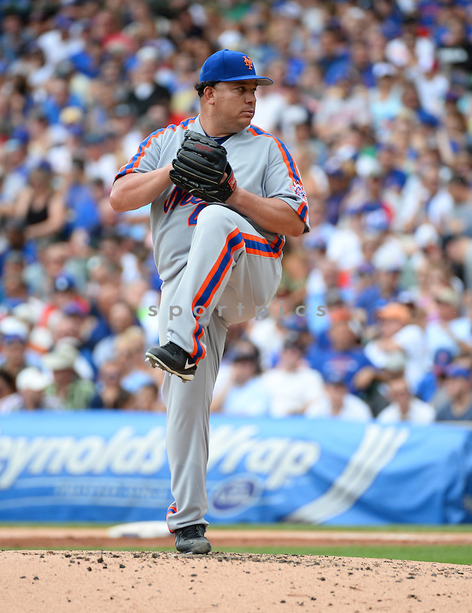 New York Mets Bartolo Colon (40) during a game against the Chicago Cubs on July 20, 2016 at Wrigley Field in Chicago, IL. The Cubs beat the Mets 6-2.
