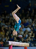 22nd March 2018, Arena Birmingham, Birmingham, England; Gymnastics World Cup, day two, womens competition; Hannah Chrobok (CAN) on the Balance Beam during her competition routine