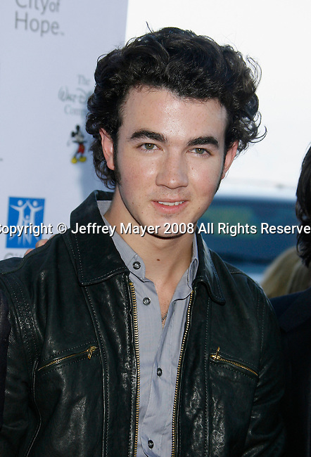 UNIVERSAL CITY, CA. - September 14: Musician Kevin Jonas of The Jonas Brothers arrives at The City of Hope Benefit Concert at Gibson Amphitheater on September 14, 2008 in Universal City, California.