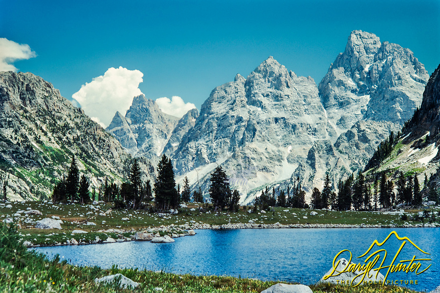 Lake Solitude and the Grand Teton in the high country of Grand Teton National Park