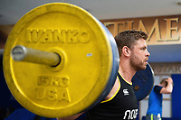 Dave Attwood of Bath Rugby in the gym. Bath Rugby pre-season training on July 2, 2018 at Farleigh House in Bath, England. Photo by: Patrick Khachfe / Onside Images