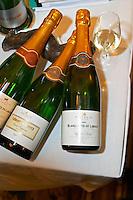 Blanquette de Limoux Reserve Brut, Cremant de Limoux Cuvee Eugenie. Domaine Antech. Limoux. Languedoc. France. Europe. Bottle.