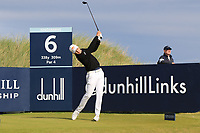 Matthias Schwab (AUT) during Round 3 of the Alfred Dunhill Links Championship 2019 at Kingbarns Golf CLub, Fife, Scotland. 28/09/2019.<br /> Picture Thos Caffrey / Golffile.ie<br /> <br /> All photo usage must carry mandatory copyright credit (© Golffile | Thos Caffrey)