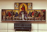 Europe/France/Bourgogne/21/Côte-d'Or/Beaune/Les hospices de Beaune/Hotel-Dieu/Salle du Polyptyque : Polyptyque du Jugement Dernier de R. Van Der Weyden réalisé entre 1445 et 1448 [Non destiné à un usage publicitaire - Not intended for an advertising use] [Non destiné à un usage publicitaire - Not intended for an advertising use]