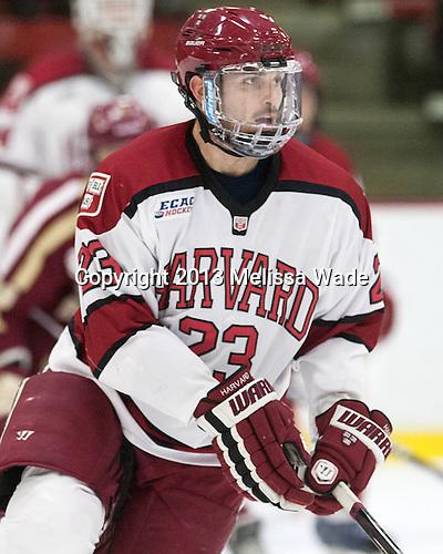 David Valek (Harvard - 23) - The visiting Boston College Eagles defeated the Harvard University Crimson 5-1 on Wednesday, November 20, 2013, at Bright-Landry Hockey Center in Cambridge, Massachusetts.