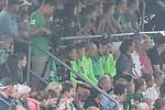 13.05.2018, SV Victoria Gersten e.V., Gersten, GER, FSP, Samtgemeideauswahl Lengerich vs SV Werder Bremen<br /> <br /> im Bild<br /> Fin Bartels (Werder Bremen #22), Philipp Bargfrede (Werder Bremen #44), Ole K&auml;uper / Kaeuper (Werder Bremen #14), Luca Caldirola (Werder Bremen #03), Ishak Belfodil (Werder Bremen #29), Aron J&oacute;hannsson / Johannsson (Werder Bremen #09), Niklas Moisander (Werder Bremen #18) auf Trib&uuml;ne, <br /> <br /> Foto &copy; nordphoto / Ewert