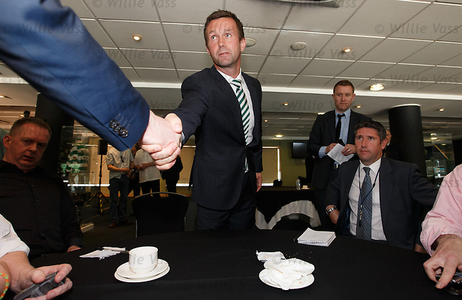 Ronny Deila meets the scottish sports hacks