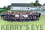 A great day for the Pupils & Teachers of Spa NS as they presented 2 cheques one to €500 Down Sydrome Ireland Kerry Branch and €1,500 to Donal Walsh Live Life Foundation accepting the cheques for Down Syndrome is Ronan Redian and acceptin the cheques for Live Live Foundation is Finbarr and Elma Walsh