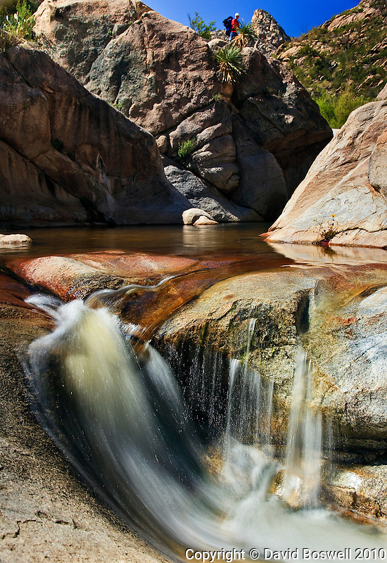 One of Romero Pools, in Romero Canyon nroth of Tucson in the Pusch Ridge Wilderness Area.