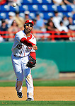 12 March 2011: Washington Nationals' infielder Jerry Hairston Jr. makes a play during a Spring Training game against the New York Yankees at Space Coast Stadium in Viera, Florida. The Nationals edged out the Yankees 6-5 in Grapefruit League action. Mandatory Credit: Ed Wolfstein Photo