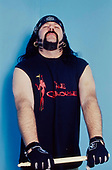 PANTERA - drummer Vinnie Paul Abbott (March 11, 1964 – June 22, 2018) - photosession backstage at the Academy Brixton London UK - 30 Apr 2000.  Photo credit: George Chin/IconicPix