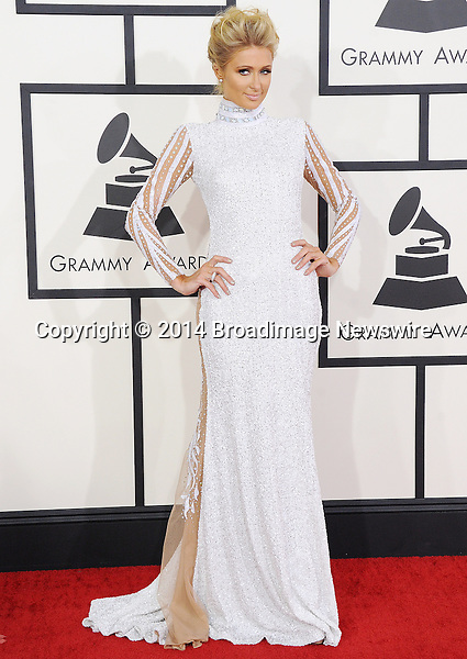 Pictured: Paris Hilton<br /> Mandatory Credit &copy; Gilbert Flores /Broadimage<br /> 56th Annual Grammy Awards<br /> <br /> 1/26/14, Los Angeles, California, United States of America<br /> Reference: 012614_GFLA_BDG_A_134<br /> <br /> Broadimage Newswire<br /> Los Angeles 1+  (310) 301-1027<br /> New York      1+  (646) 827-9134<br /> sales@broadimage.com<br /> http://www.broadimage.com