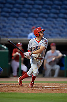Clearwater Threshers shortstop Nick Maton (6) during a Florida State League game against the Dunedin Blue Jays on April 4, 2019 at Spectrum Field in Clearwater, Florida.  Dunedin defeated Clearwater 11-1.  (Mike Janes/Four Seam Images)