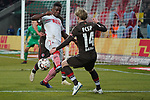 08.02.2019, RheinEnergieStadion, Koeln, GER, 2. FBL, 1.FC Koeln vs. FC St. Pauli,<br />  <br /> DFL regulations prohibit any use of photographs as image sequences and/or quasi-video<br /> <br /> im Bild / picture shows: <br /> Jhon Córdoba (FC Koeln #15),   im Zweikampf gegen  Mats Möller / Moeller Daehli (St Pauli #14), <br /> <br /> Foto © nordphoto / Meuter