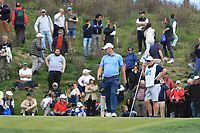 Marc Warren (SCO) on the 1st green during Round 3 of the Open de Espana 2018 at Centro Nacional de Golf on Saturday 14th April 2018.<br /> Picture:  Thos Caffrey / www.golffile.ie<br /> <br /> All photo usage must carry mandatory copyright credit (&copy; Golffile | Thos Caffrey)