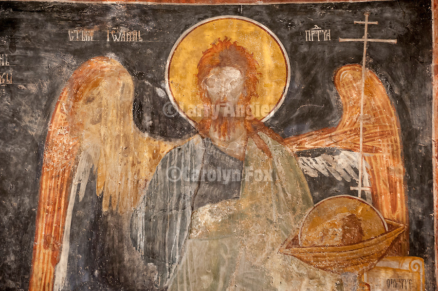 Interior frescoes and icons, Church of the Assmption (1030?--probably 1648) at the Savina Monastery in Herceg Novi