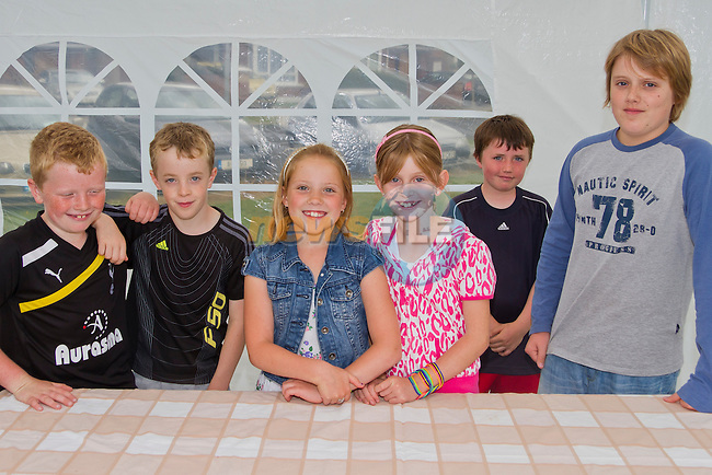 Dylan, Matthew, Jason, Caitlin, Abigail and Kyle at the fun day..Picture: Shane Maguire / www.newsfile.ie.