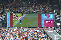 Video Assistance being used  NO GOAL off side during West Ham United vs Manchester City, Premier League Football at The London Stadium on 10th August 2019
