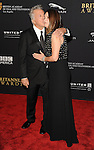 Dustin Hoffman and Lisa Hoffman attending the 2014 BAFTA Los Angeles Jaguar Britannia Awards Presented BY BBC America, held at The Beverly Hilton Hotel Beverly Hills, CA. October 30, 2014.